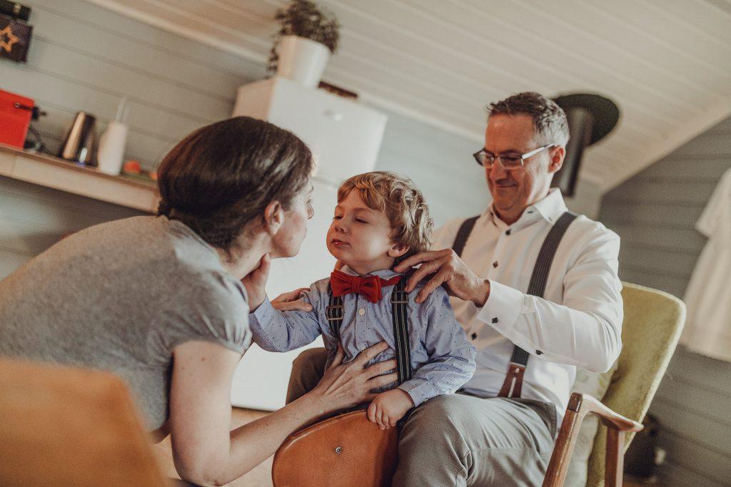 Dokumentarisk fotografering av elopement bryllup i Lofoten